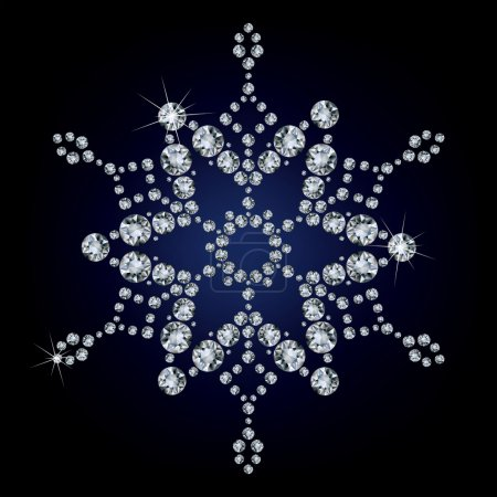 Snowflake made from diamonds.