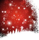 Red christmas background with christmas tree eps