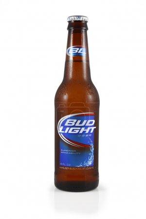 An isolated studio shot of a bottle of Bud Light B...