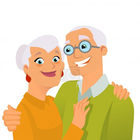 Illustration for Happy smiling grandparents - Royalty Free Image