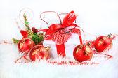 Vánoční dárek červené koule