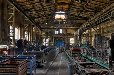 Factory hall in the old iron foundry