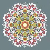 Ornamental round seamless lace pattern