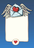 Background for a love confession valentine heart and ribbon