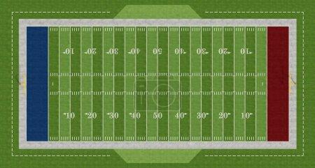 Foto de Vista de un fútbol americano superior campo - representación - Imagen libre de derechos