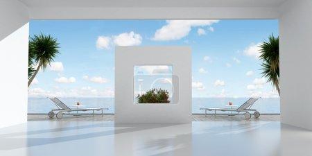 White holiday villa
