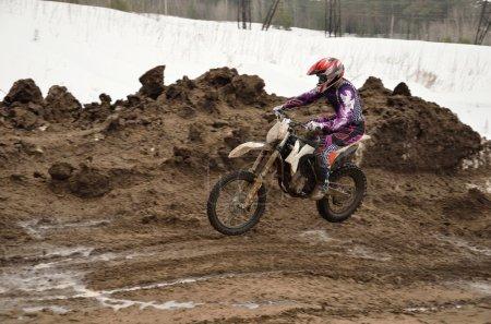 Saltation on a motorcycle motocross