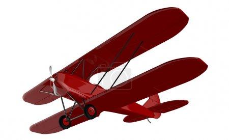 Photo pour 3d rendu d'avions vintage sur fond blanc - image libre de droit
