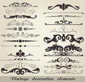 Vintage decorative elements