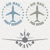 Set of stamps air mail