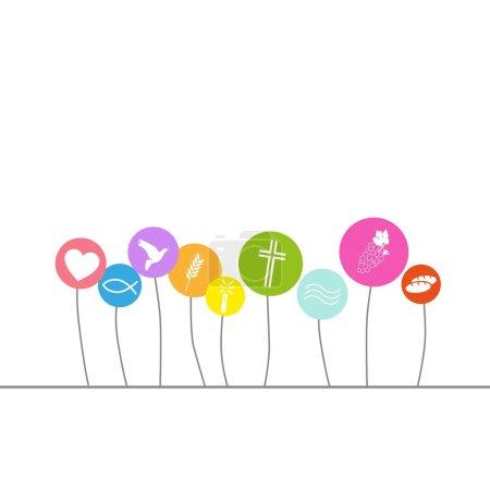 Illustration pour Carte de communion - image libre de droit