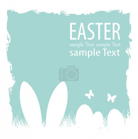 Illustration for Happy easter on blue background - Royalty Free Image
