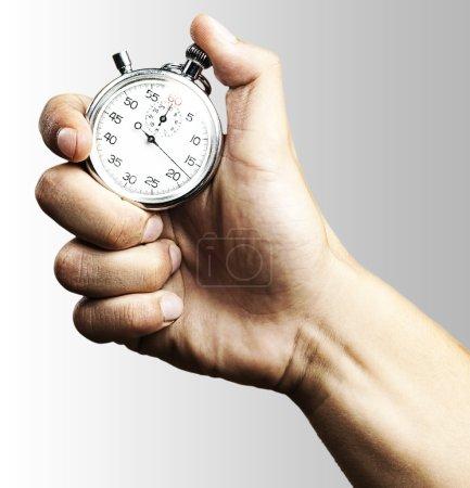 Stopwatch on grey