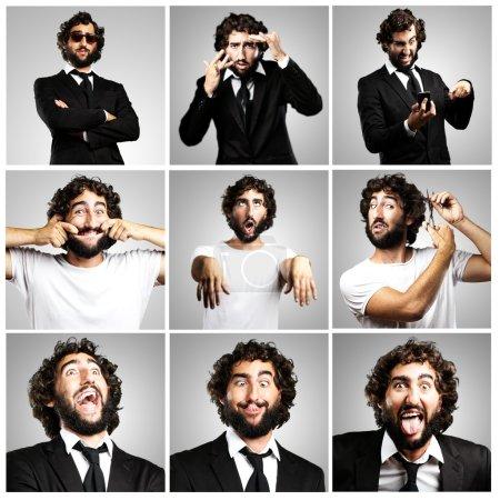 Photo pour Jeune entreprise crazy man collection plaisante - image libre de droit