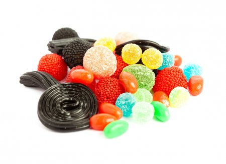 Photo for Candies against a white background - Royalty Free Image