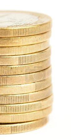 Euro coin tower