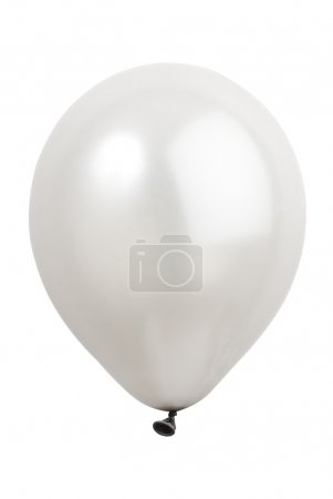 Photo for White balloon against a white background - Royalty Free Image