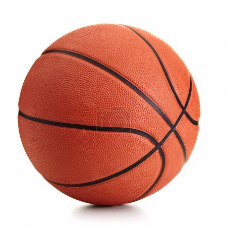 Photo for Basketball ball over white background - Royalty Free Image