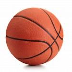 Basketball ball over white background...