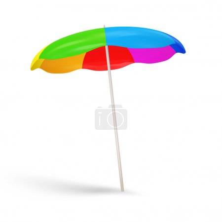 Colorful Beach Umbrella isolated on white background
