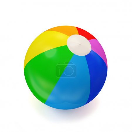 Photo for Colorful Beach Ball isolated on white background - Royalty Free Image