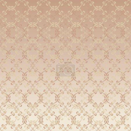 Floral design beige