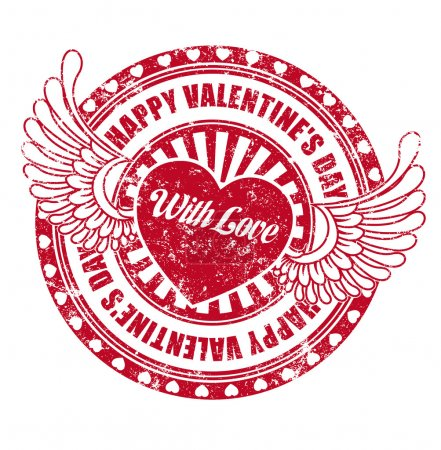 Rubber stamp Happy Valentine's day