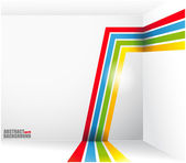 Abstract background with bright strips and a place under the text vector
