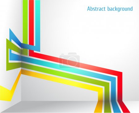 Abstract background with bright strips and a place under the text. vector