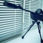 Air gun with telescopic sight...
