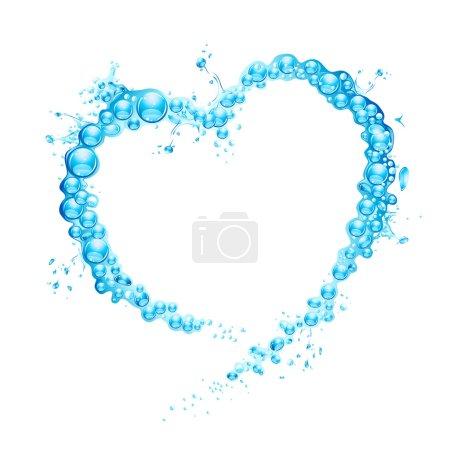 Illustration for Illustration of water splash forming heart shape - Royalty Free Image