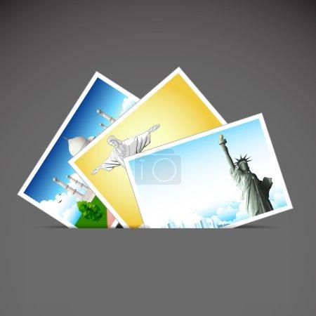 Ilustración de Ilustración de fotografía de viajes diferente lugar - Imagen libre de derechos