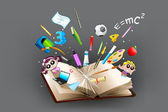 Education object coming out of book