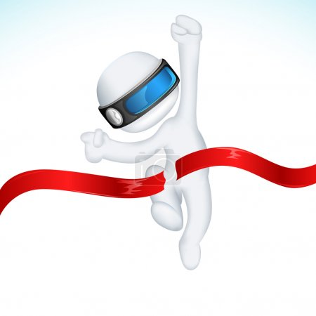 3d Man in Vector in Finishing Line