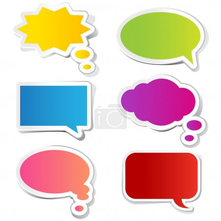 Illustration for Illustration of chat bubble in paper sticker style - Royalty Free Image