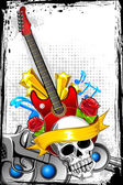 Guitar with Skull
