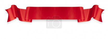 Photo for Elegance red ribbon banner with shadow - Royalty Free Image