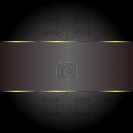 Cards gold on the black. Business invitation cards
