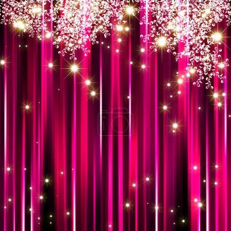 Estrella brillante sobre fondo magenta rosa