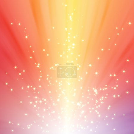 Photo for Abstract sparkling star on colorful burst background - Royalty Free Image