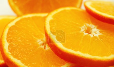 Slices of orange.