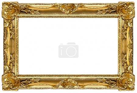 Photo for A picture gold frame on a white - Royalty Free Image