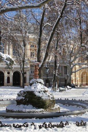 Winter park in Odessa.