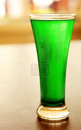 Cold green beer