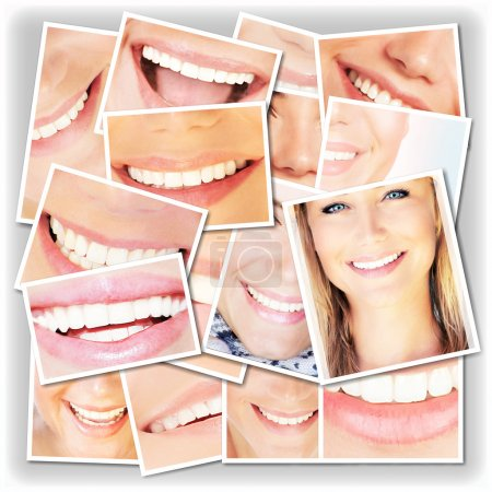 Smiling faces collage