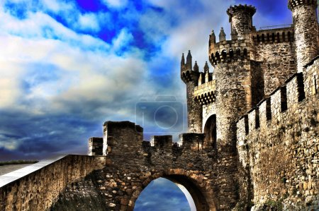 Photo for Medieval Templar Castle of year 1178 in Ponferrada, Spain - Royalty Free Image