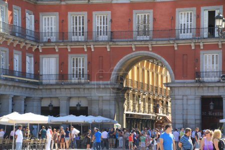 Famous Plaza Mayor Madrid Spain
