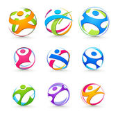 Collection sports icons of  Vector illustration
