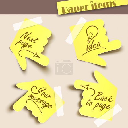 Illustration for Vector illustration note paper. Message label. - Royalty Free Image