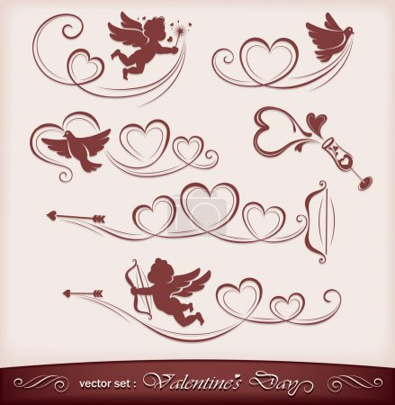 Illustration for Icons for Valentine's Day. Vector illustration - Royalty Free Image
